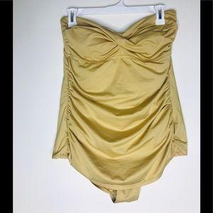 Target Merona Strapless Gold Bathing Suit Swim